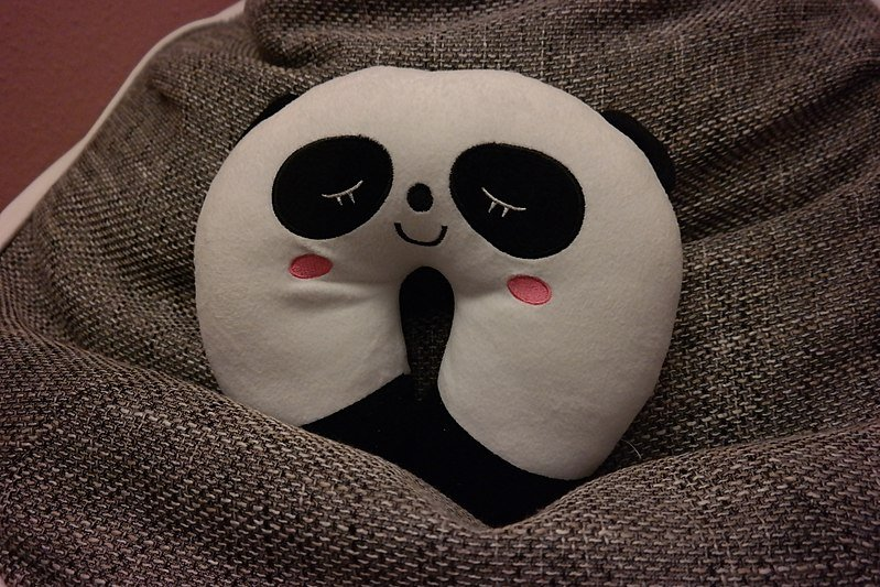 Panda shaped neck pillow