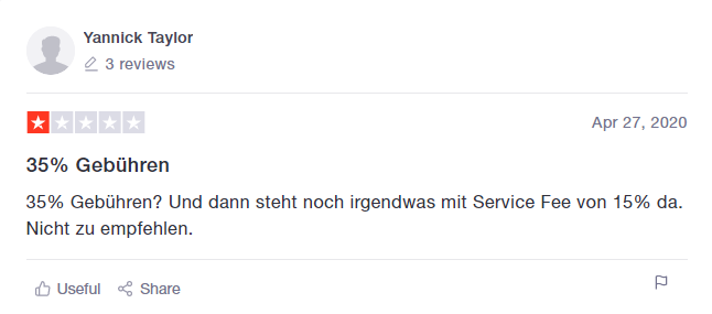AirHelp Bewertung von Yannick